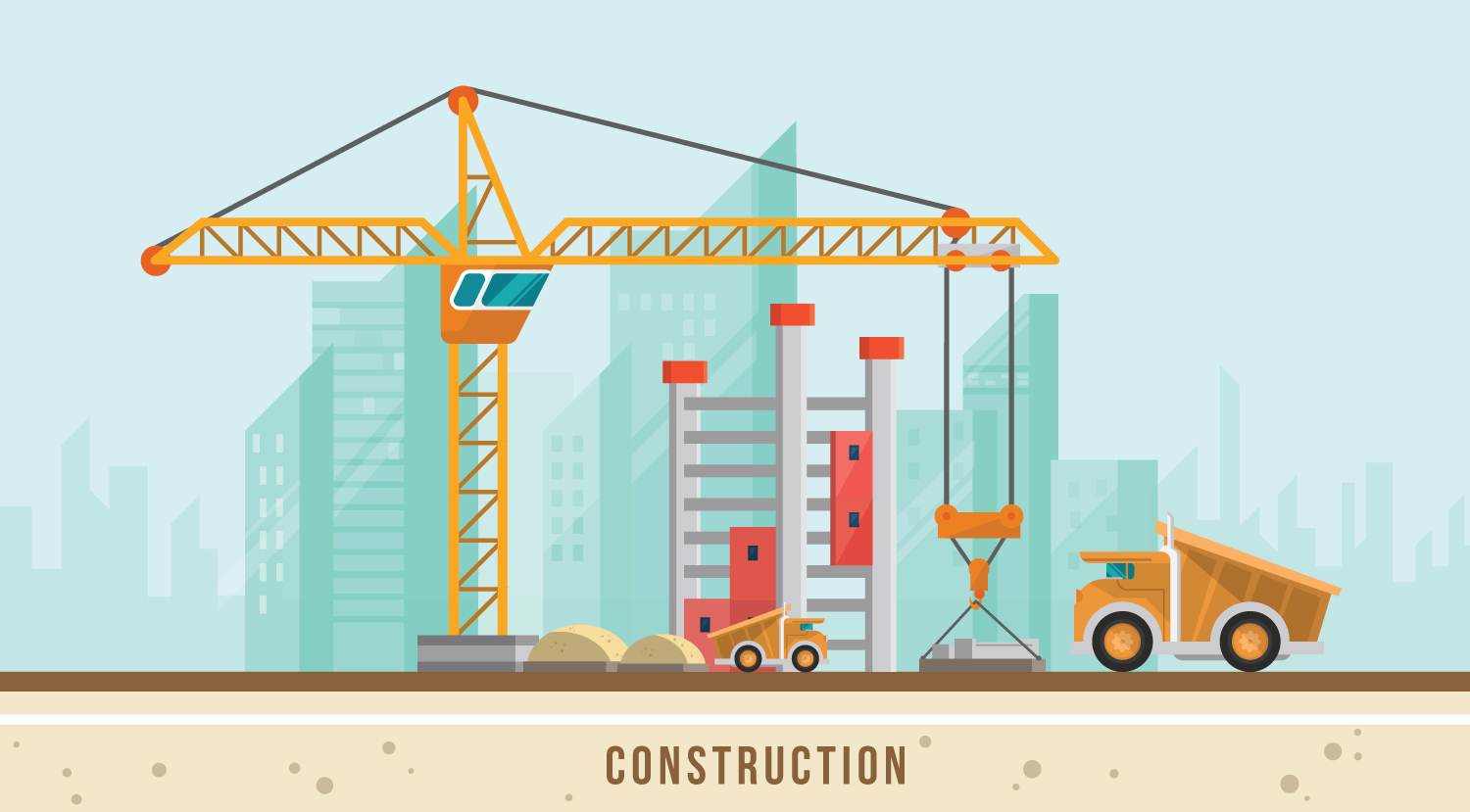 graphic of building under construction